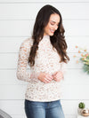 Travel To Paris Lace Top - Ivory