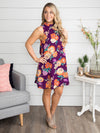 Summer Breeze Floral Dress - Plum