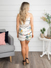 Deep In Love Floral Romper - Ivory