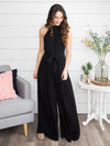 Return To Paradise Jumpsuit - Black