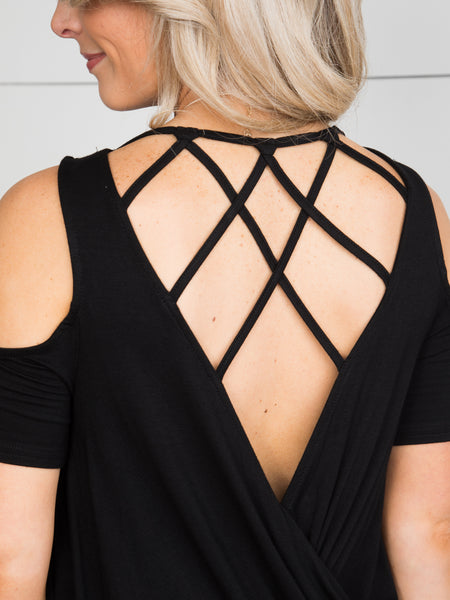 Dreaming Of This Cutout Top - Black