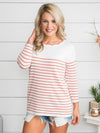 A Smile So Bright Stripe Top - Off White