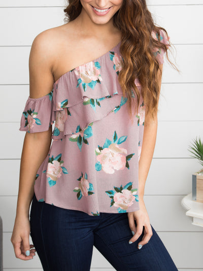 You've Got What I Need One Shoulder Top - Light Purple
