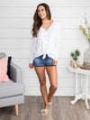 Where We Belong Knot Top - Off White