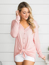 Where We Belong Knot Top - Pink