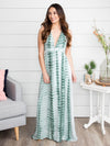 Take Me To Tahiti Tie Dye Dress - Sage