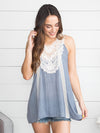 A Little Love Lace Top - Denim