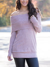 Lovely For You Off-Shoulder Top - Mauve