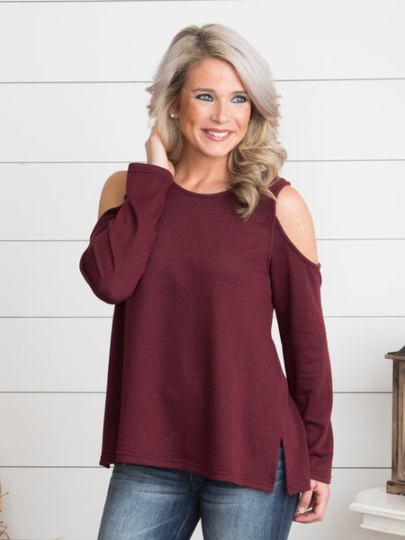 Casey Criss-Cross Top - Burgundy