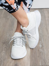 Making Moves Metallic Tennis Shoes - Ivory
