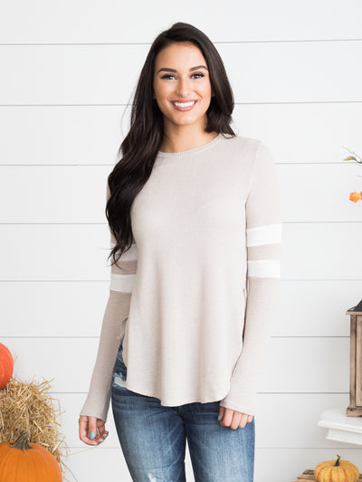 Sedona Thermal Top - Almond