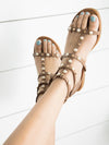 Lakyn Pearl Beaded Sandal - Tan