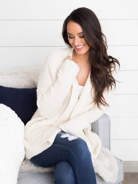 Let's Get Cozy Cardigan - Cream