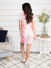 Spice Of Life Tie Dye T-Shirt Dress - Pink Lemonade