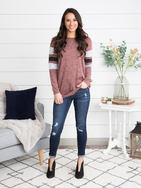 Could It Be Cozy Pullover - Heather Mauve