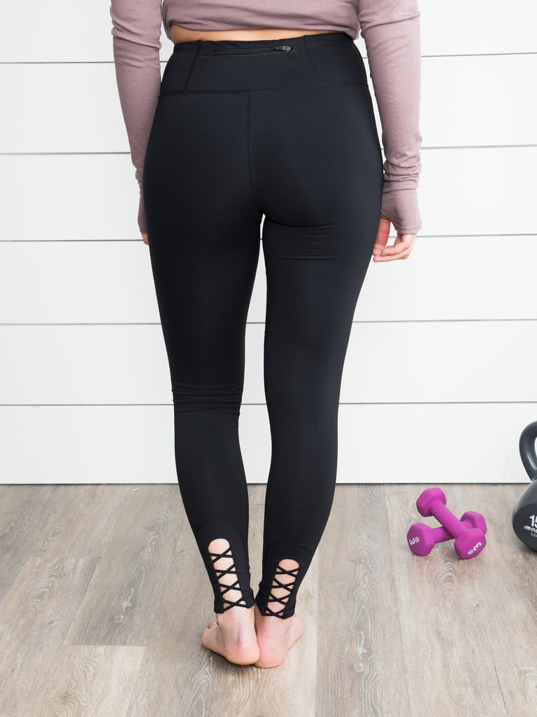 Kallen Cutout Leggings - Black