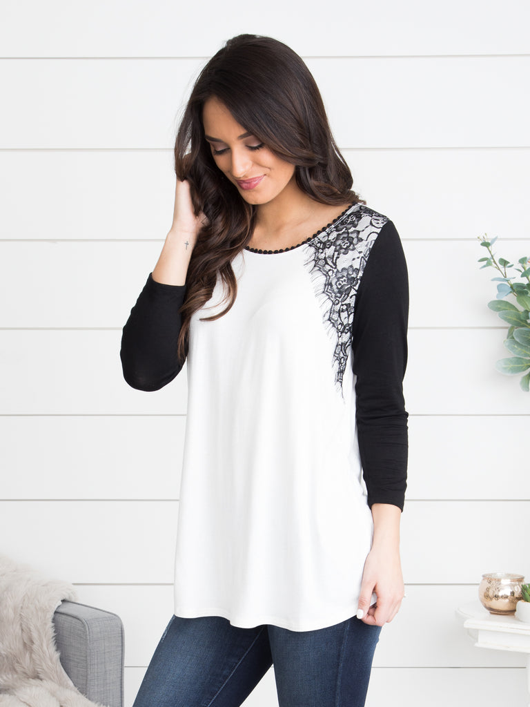 Nights Like This Lace Top - Off White