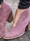 Savannah Scalloped Bootie - Mauve