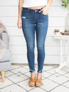 Haelyn Frayed Hem Skinny Jean - Medium Wash