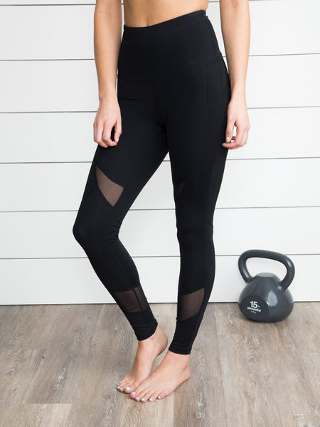 The Extra Mile Mesh Legging - Black