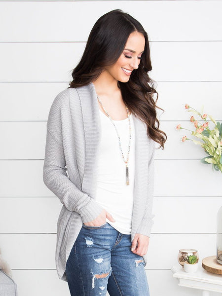 Sweet Memories Cardigan - Grey