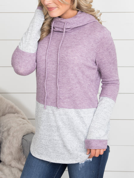 Maddie Color-Block Tunic - Dusty Purple