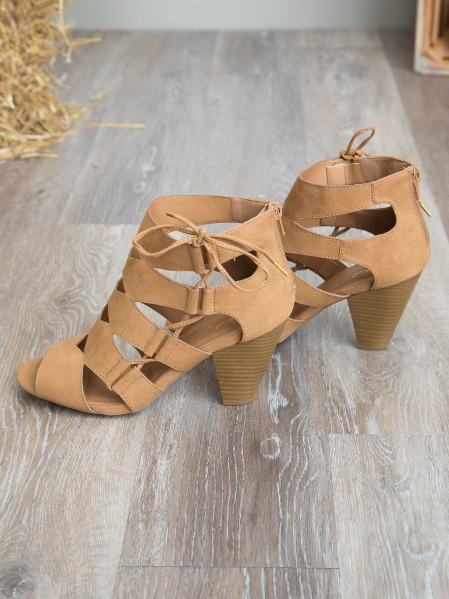 The Mariah Cutout Heel - Camel