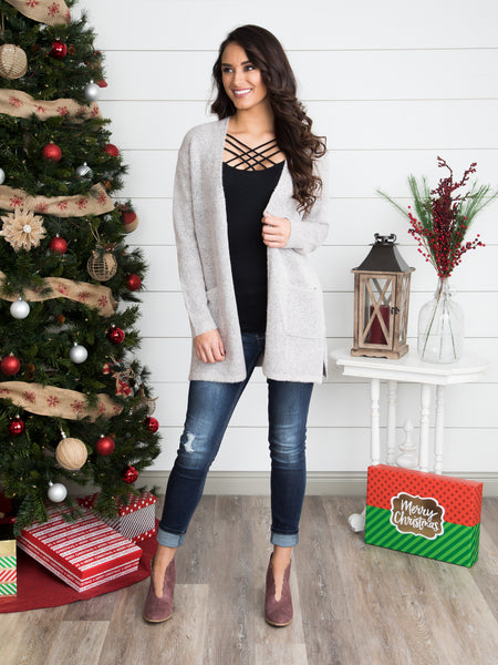 Brentwood Cardigan - Heather Taupe