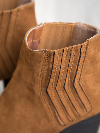 The Traveler Ankle Bootie - Whiskey