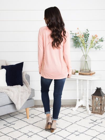 Living In Lace Top - Apricot