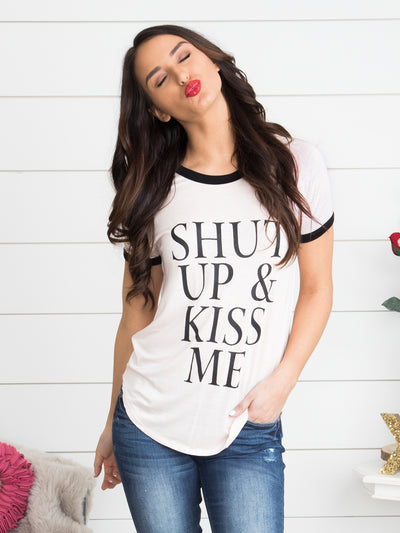 Shut Up And Kiss Me Top - Blush