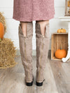 Naomi Over The Knee Boot - Taupe