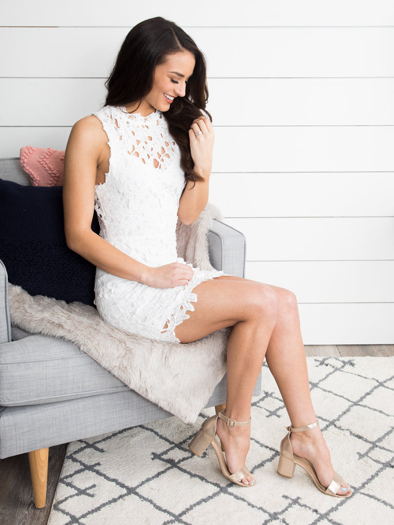 Forever Together Lace Dress - Off White