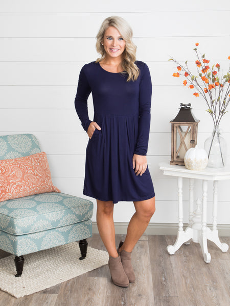 The Nikki Dress - Navy