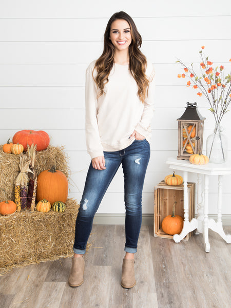The Edge Of Lace Sweater - Ivory