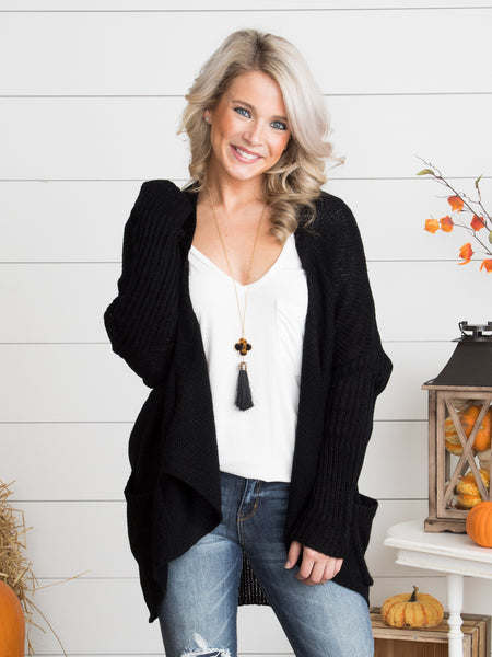 If It's Meant To Be Cardigan - Black