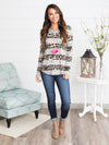 Urban Jungle Stripe Top - Multi