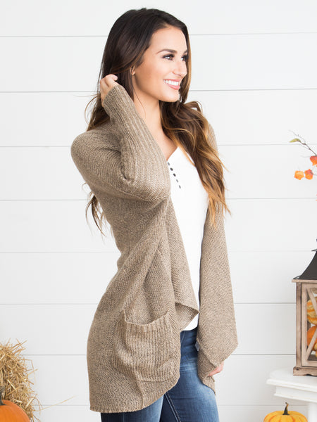 If It's Meant To Be Cardigan - Mocha