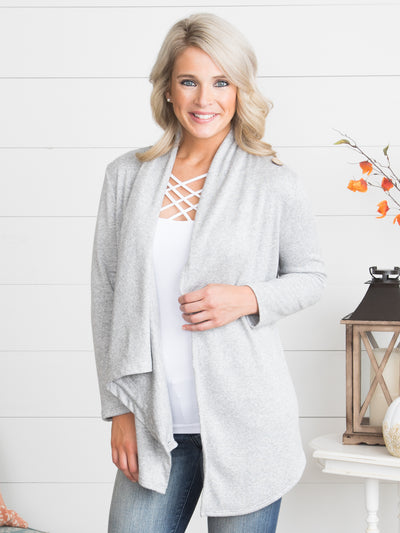 Make It Happen Cardigan - Heather Grey