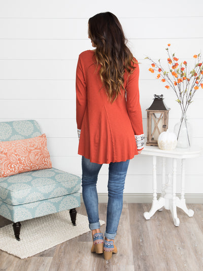 Forever Young Tunic - Rust