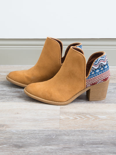 Keegan Cutout Booties - Cognac