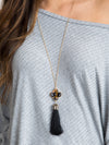 Tortoise Tassel Necklace - Black