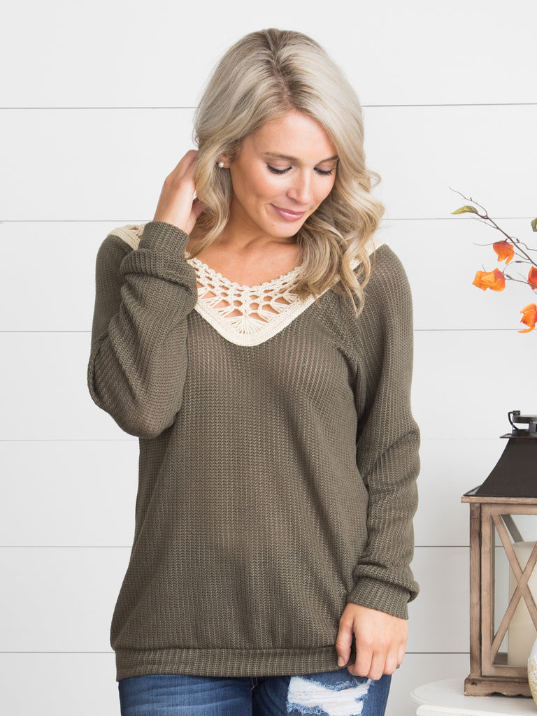 In Your Arms Sweater - Rich Olive