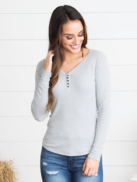 Your New Favorite Henley - Grey