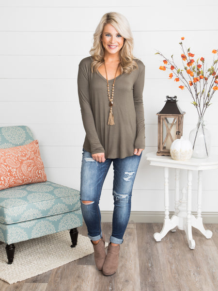 Modern Muse Top - Olive