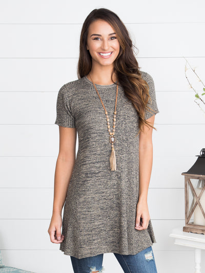 Love Me Like That Knit Tunic Dress - Taupe