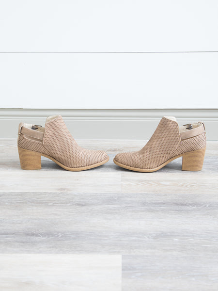 Nova Perforated Booties - Taupe