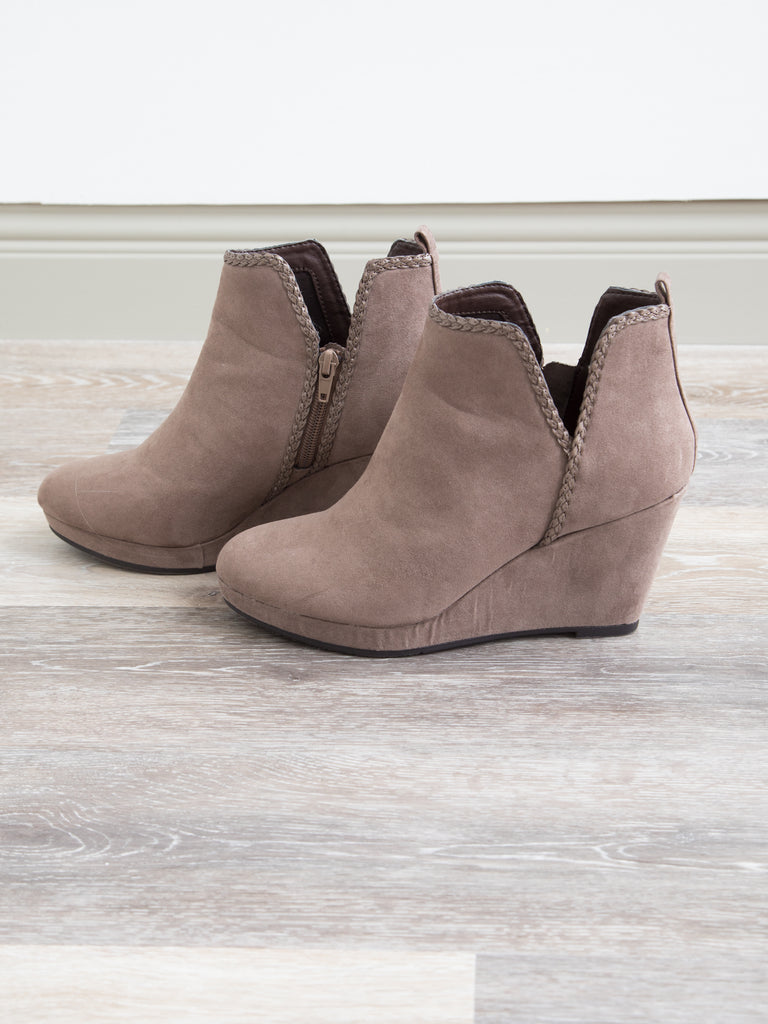 Chinese Laundry Volcano Cutout Bootie - Dark Taupe
