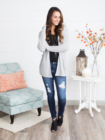 The Studio Cardigan - Silver