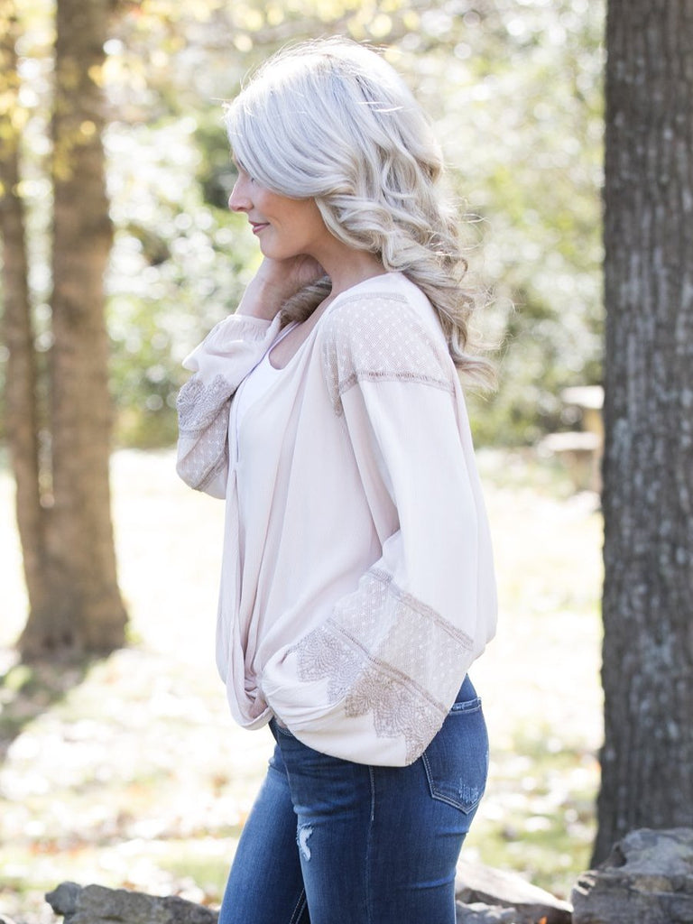 My Romance Lace Top - Taupe